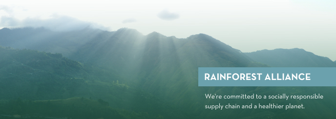 Rain Forest Alliance: We're committed to a socially responsible supply chain and a healthier planet.