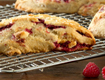 Raspberry White Chocolate Scone